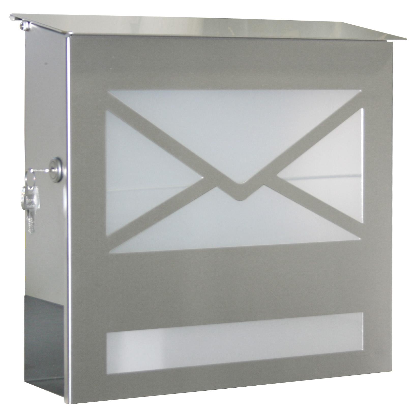 heibi briefkasten edelstahl letter mit zeitungsfach schmitt smartes wohnen. Black Bedroom Furniture Sets. Home Design Ideas