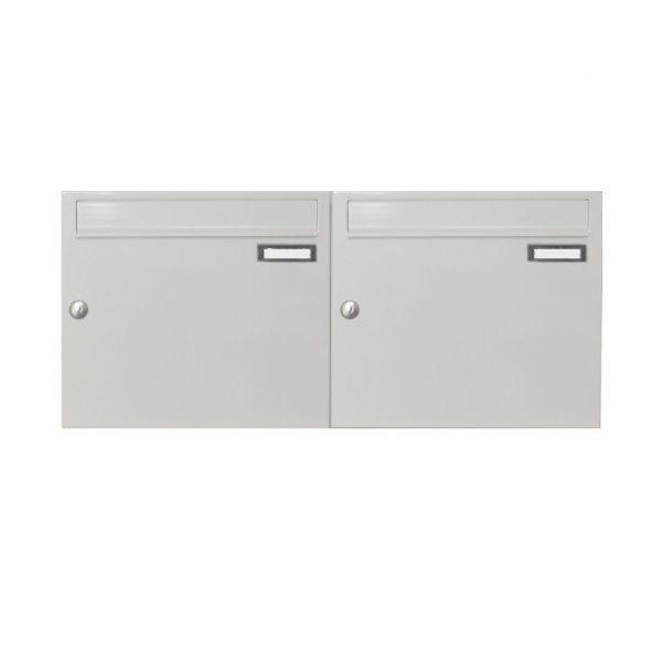 Doppel Briefkasten Wandmontage weiß AP5