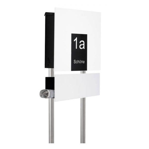 Design Standbriefkasten mit Hausnummer Zeil
