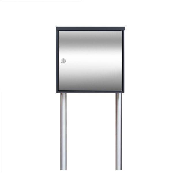 Design Standbriefkasten Edelstahl Anthrazit SE8