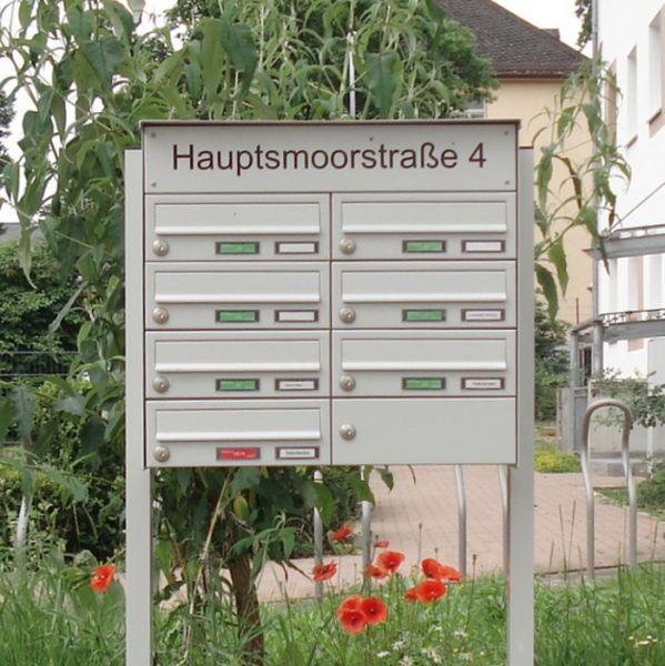Briefkastenanlage freistehend mit Straßenname BF809