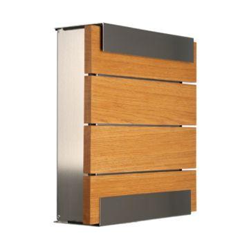 keilbach Design Briefkasten glasnost wood oak Edelstahl
