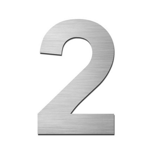 Serafini Hausnummer selbstklebend 2 Edelstahl