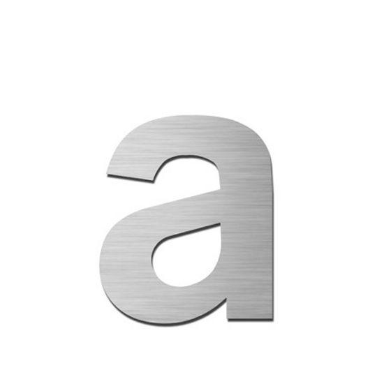 Serafini Hausbuchstabe a klein selbstklebend Edelstahl