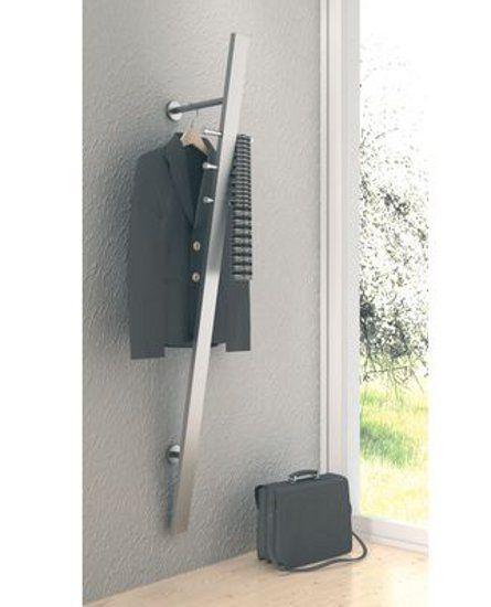 Design Garderobe Wandgarderobe Edelstahl V1