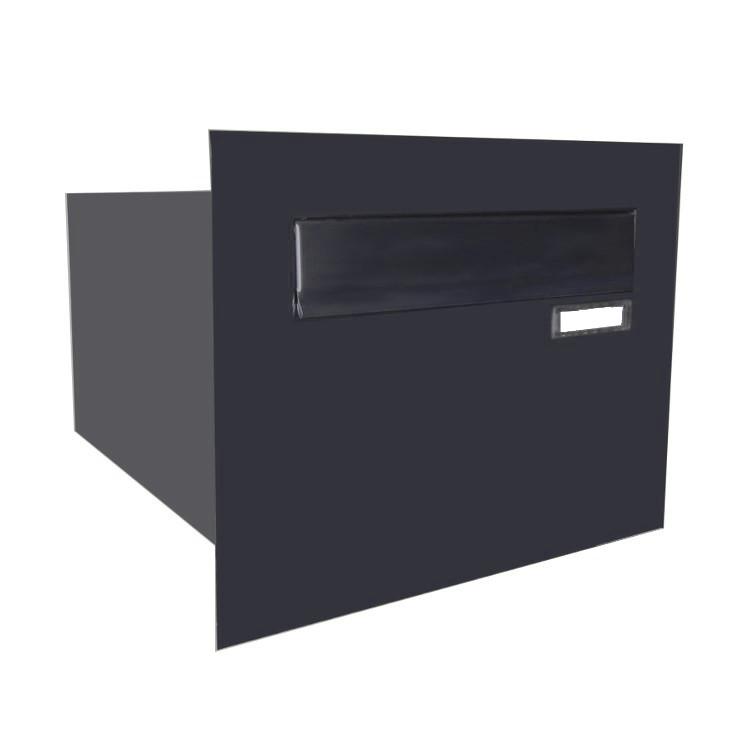 mauerdurchwurf briefkastenanlagen edelstahl mauerdurchwurfbriefkasten mit klingel. Black Bedroom Furniture Sets. Home Design Ideas