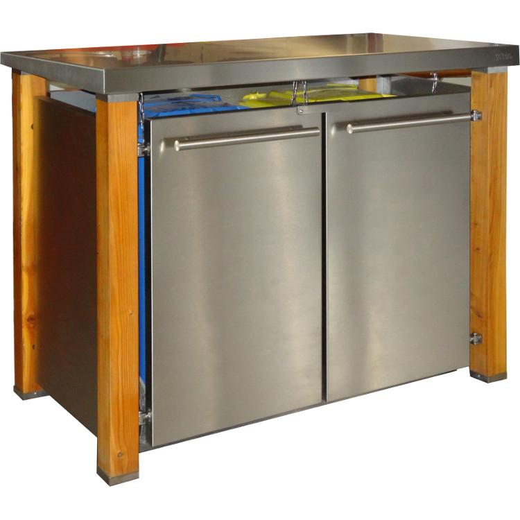 mb19 2er m lltonnenbox l rche edelstahl 120 240 liter schmitt smartes wohnen. Black Bedroom Furniture Sets. Home Design Ideas
