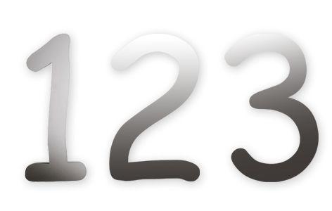 Knobloch Hausnummer Edelstahl Flint 123