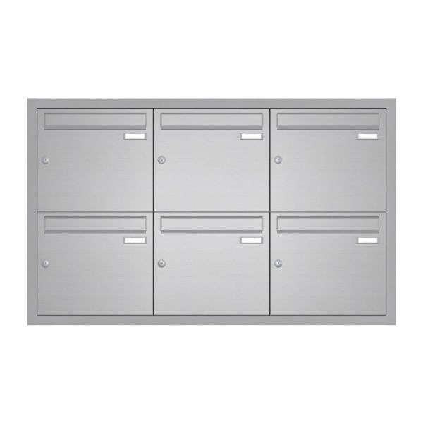Edelstahl Unterputz Briefkastenanlage UP10
