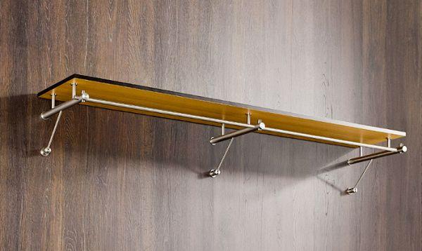 design wandgarderobe edelstahl mit ablage g3h schmitt. Black Bedroom Furniture Sets. Home Design Ideas