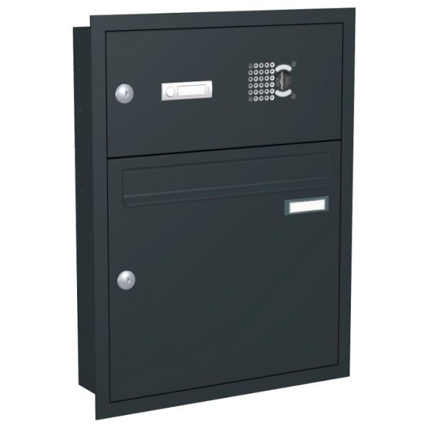 unterputz briefkastenanlage mit kamera up2v schmitt smartes wohnen. Black Bedroom Furniture Sets. Home Design Ideas