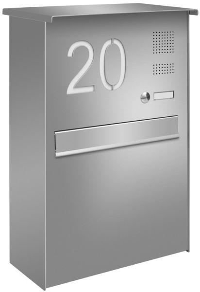 Z6 Zaunbriefkasten mit Klingel & Hausnummer Entnahme hinten