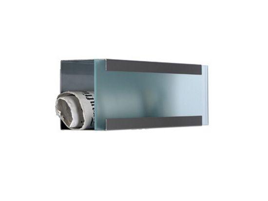 keilbach Design Zeitungsrolle newsbox glass Edelstahl